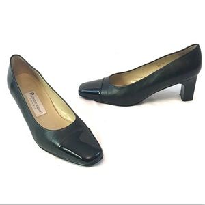 Etienne Aigner Strada Block Heels Black Leather
